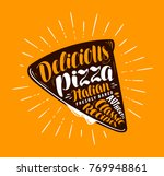 pizza slice. element of menu... | Shutterstock .eps vector #769948861
