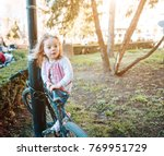 little beautiful girl is... | Shutterstock . vector #769951729