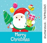 santa claus with ornament for... | Shutterstock .eps vector #769961065