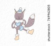 funny squirrel. nursery art....   Shutterstock .eps vector #769962805