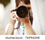photographer  selective focus... | Shutterstock . vector #76996348