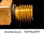 brass nut with industry. | Shutterstock . vector #769966699