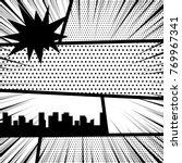 vector illustration halftone... | Shutterstock .eps vector #769967341