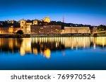 night view from lyon city near...   Shutterstock . vector #769970524