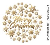 christmas poster with... | Shutterstock . vector #769980175