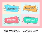 flat linear promotion ribbon... | Shutterstock .eps vector #769982239