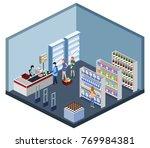 isometric 3d vector...   Shutterstock .eps vector #769984381