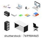 isometric 3d vector... | Shutterstock .eps vector #769984465