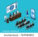 isometric 3d vector... | Shutterstock .eps vector #769984801