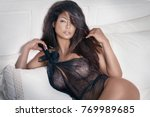 elegant sexy girl posing in... | Shutterstock . vector #769989685