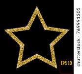 gold luxury fashion shiny star. ... | Shutterstock .eps vector #769991305