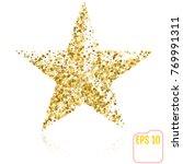 golden christmas star isolated... | Shutterstock .eps vector #769991311
