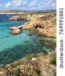 comino island blue lagoon.... | Shutterstock . vector #769991881