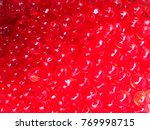red pearls made from starch. | Shutterstock . vector #769998715
