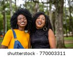 afro descent girls having fun... | Shutterstock . vector #770003311