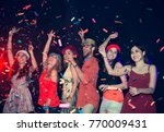 blurred people in party   group ... | Shutterstock . vector #770009431