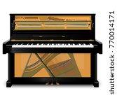 illustration inside piano on... | Shutterstock .eps vector #770014171