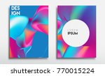 covers templates set with...   Shutterstock .eps vector #770015224
