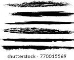 set of grunge brush strokes | Shutterstock .eps vector #770015569