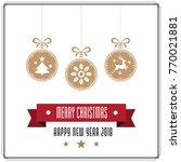 various hanging christmas... | Shutterstock .eps vector #770021881