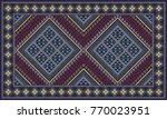 colorful oriental mosaic kilim... | Shutterstock .eps vector #770023951