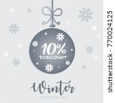 winter sale 10 discount concept ... | Shutterstock .eps vector #770024125