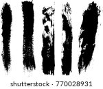 set of grunge brush strokes     | Shutterstock .eps vector #770028931