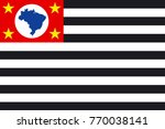 simple flag of sao paulo is a... | Shutterstock .eps vector #770038141