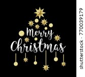 merry christmas typography... | Shutterstock .eps vector #770039179