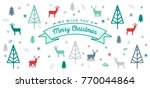 merry christmas pattern vector... | Shutterstock .eps vector #770044864