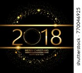 happy new year background with... | Shutterstock .eps vector #770046925