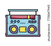 radio object technology to... | Shutterstock .eps vector #770047945