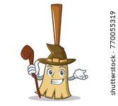 witch broom character cartoon... | Shutterstock .eps vector #770055319