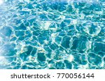 turquoise water ripples ... | Shutterstock . vector #770056144