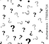 question mark seamless pattern .... | Shutterstock . vector #770056714