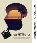 movie and film modern retro... | Shutterstock .eps vector #770058325