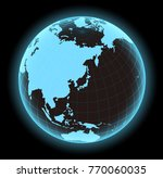 glowing world map vector... | Shutterstock .eps vector #770060035