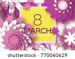 8 march. happy mother's day.... | Shutterstock . vector #770060629
