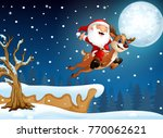 vector illustration of santa... | Shutterstock .eps vector #770062621