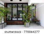 cafe exterior idea | Shutterstock . vector #770064277