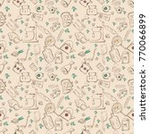 vector seamless pattern of... | Shutterstock .eps vector #770066899