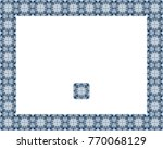 border or frame of abstract... | Shutterstock . vector #770068129