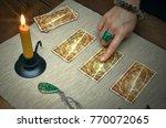 tarot cards on fortune teller... | Shutterstock . vector #770072065