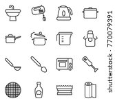 thin line icon set   sink ... | Shutterstock .eps vector #770079391