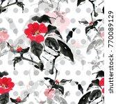 seamless floral pattern... | Shutterstock . vector #770089129
