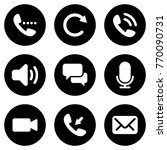 set of simple icons on a theme... | Shutterstock .eps vector #770090731