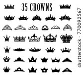 crown icons. princess crown.... | Shutterstock .eps vector #770092567