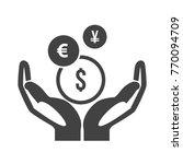 mutual fund symbol | Shutterstock .eps vector #770094709