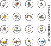 line vector icon set   suitcase ... | Shutterstock .eps vector #770094985