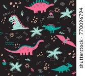 vector seamless childish... | Shutterstock .eps vector #770096794